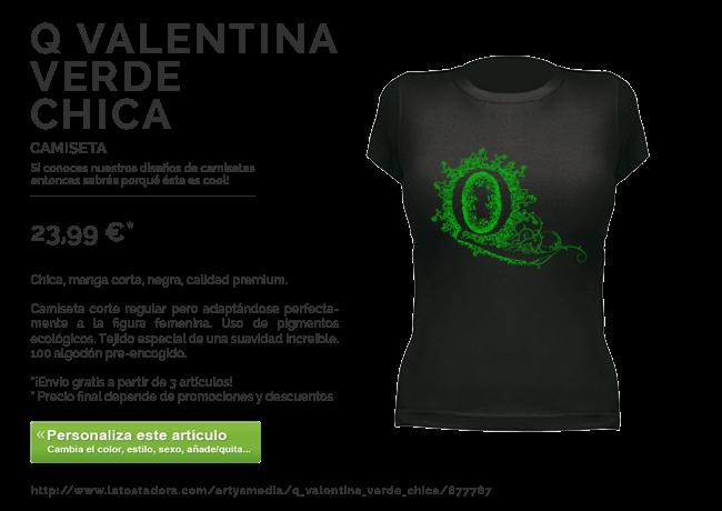 Camiseta Q Valentina Verde Chica