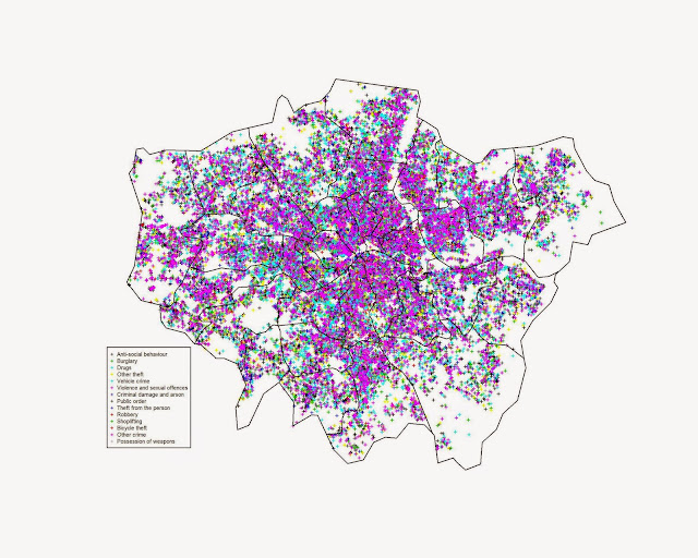 Introductory Point Pattern Analysis of Open Crime Data in London