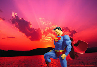 Desktop Wallpaper of Superman Statue at Sunset Landscape Desktop wallpaper