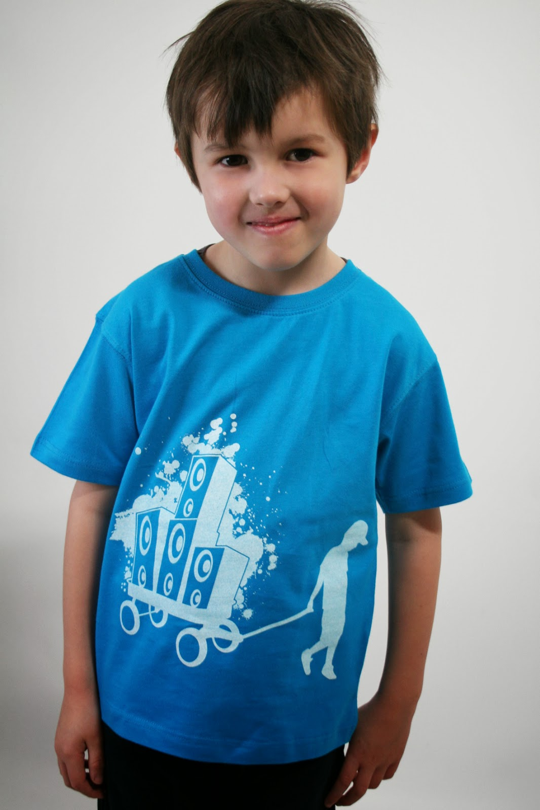 Kindershirt mit Boxenbernd, Musik-Shirt