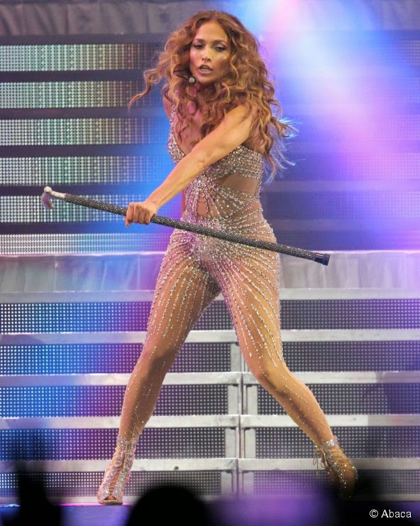 Catsuit Transparan Jennifer Lopez