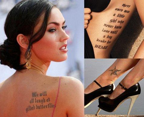 Celebrity Tattoos Fe