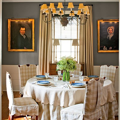 With The Freshness Of Gingham Slipcovers And Tablecloth Its Respectful To Era But Not Stuffy Wendy Should Coin A Decorator Type Name For