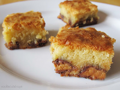 Peanut Butter Cup Blondies from addapinch.com