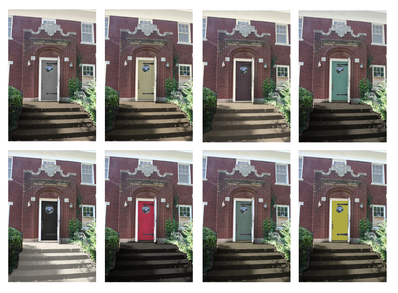 Sixtwelvesixteenth shut the front door Front door color ideas for brick house