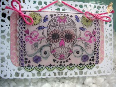 colored skull ATC envelopes front