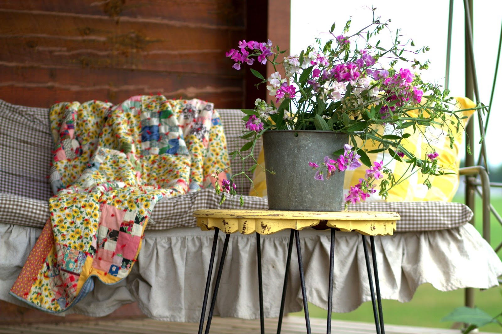 Rustic Cabin Porch Decor Creative Cain Cabin - garden swing flower designs
