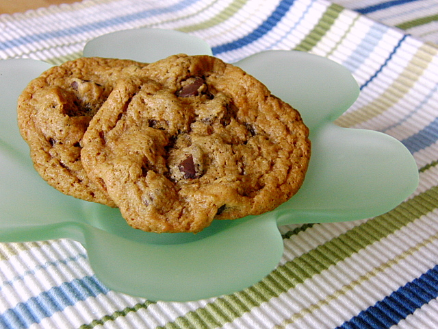 ... and Beyond: Flourless Peanut Butter Chocolate Chip Banana Cookies