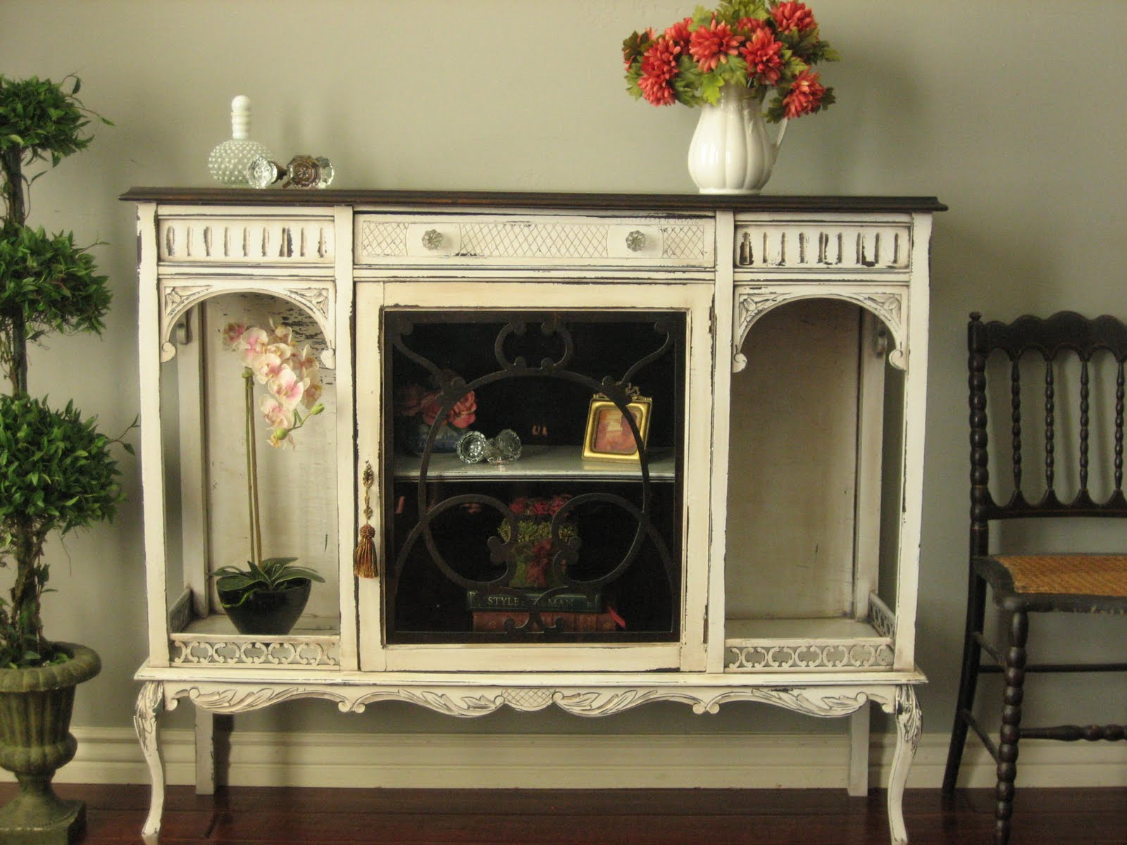 cabinet corner black for curio off lighted glass curved white symbianology oak cabinets sale info