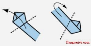 Bước 4: Dùng đầu dây giấy dài quấn xung quanh hình ngũ giác cho tới khi hết dây nhé.