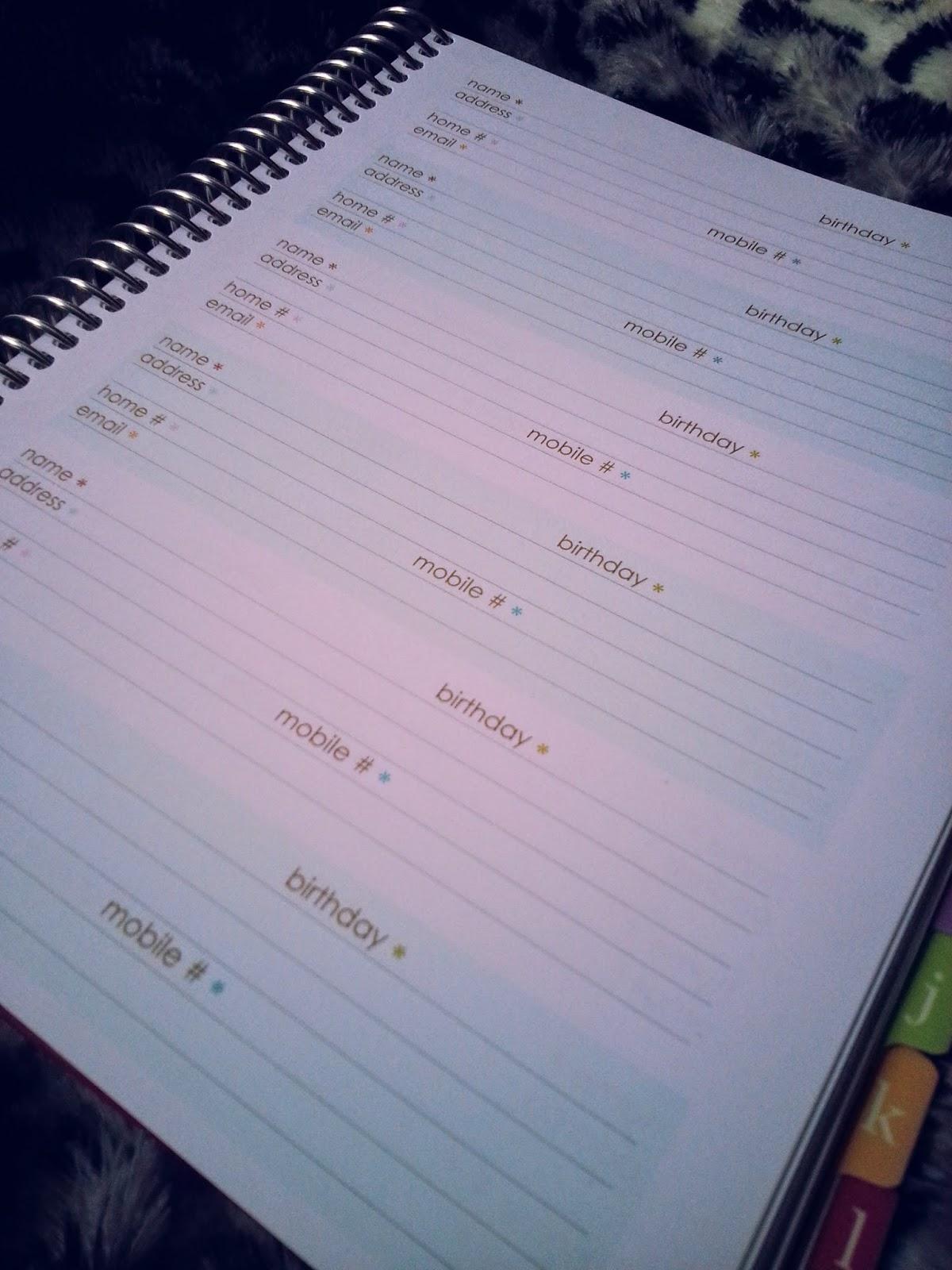 Erin Condren Address Book