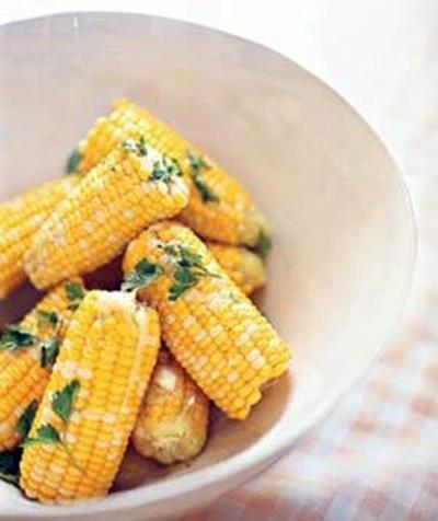 Parsleyed Corn On The Cob