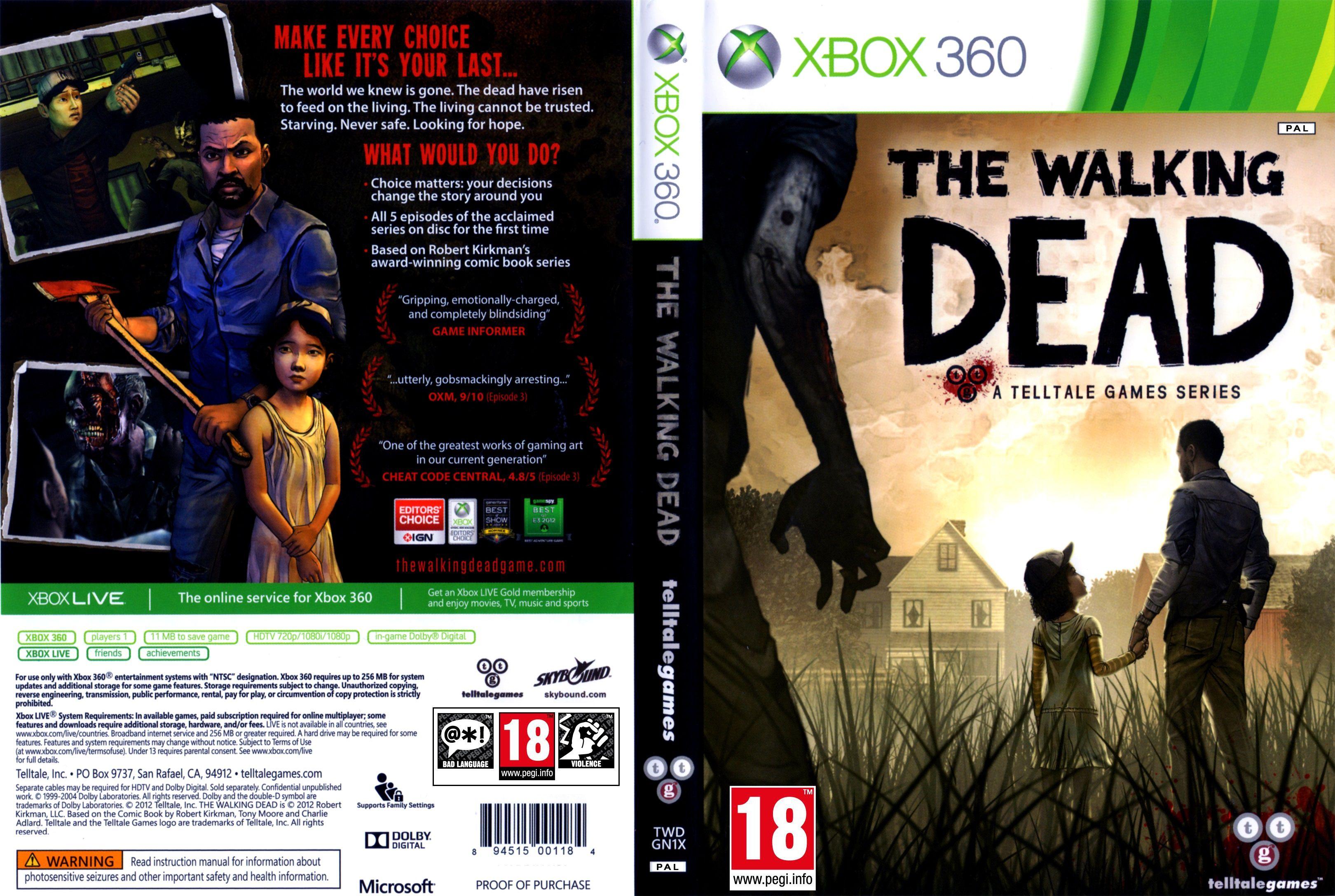 Capa The Walking Dead Xbox 360