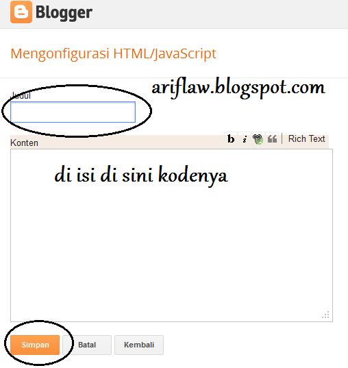Cara Memasang Widget Like Facebook Melayang di blog