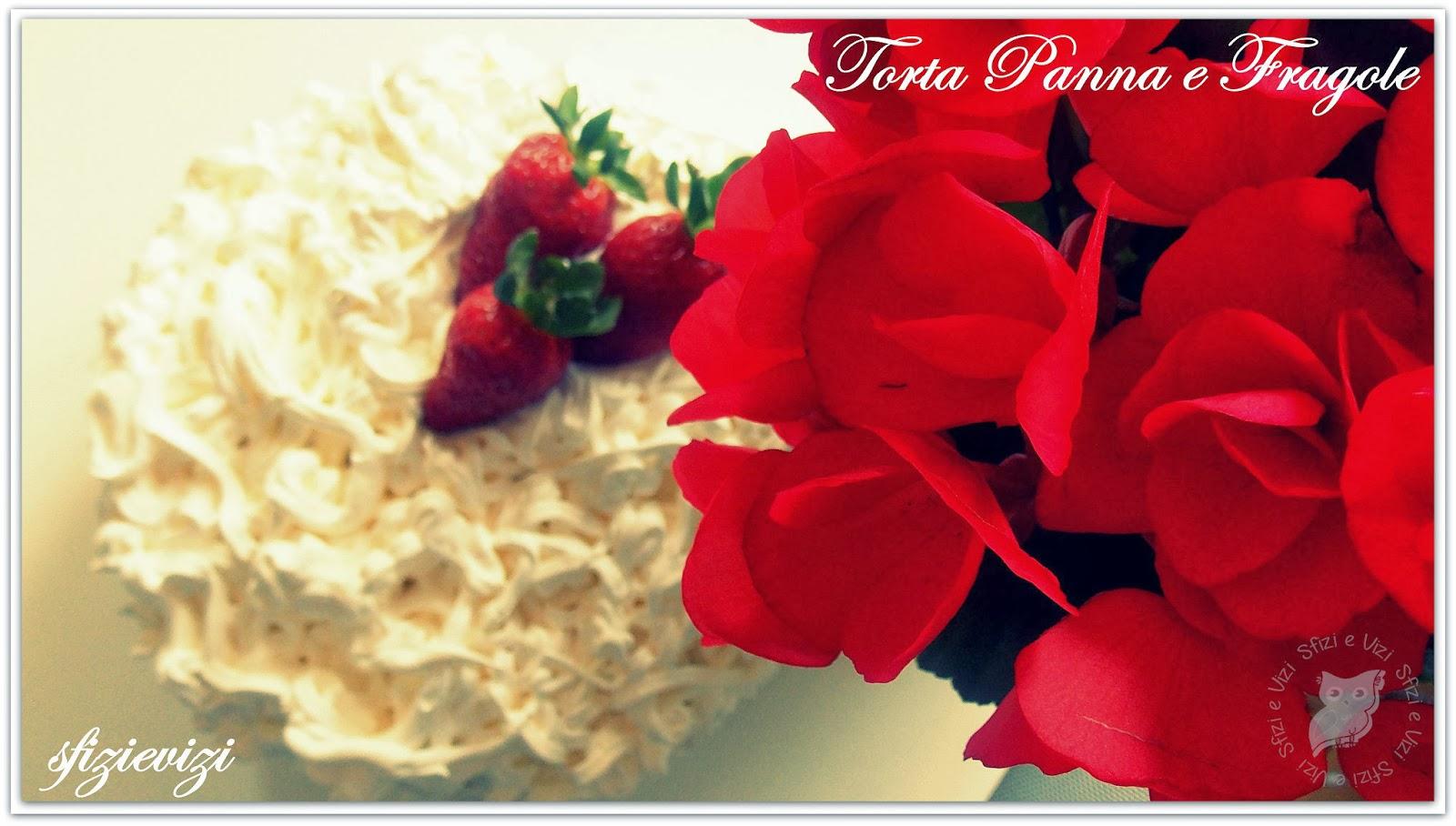 torta panna e fragole peace&love