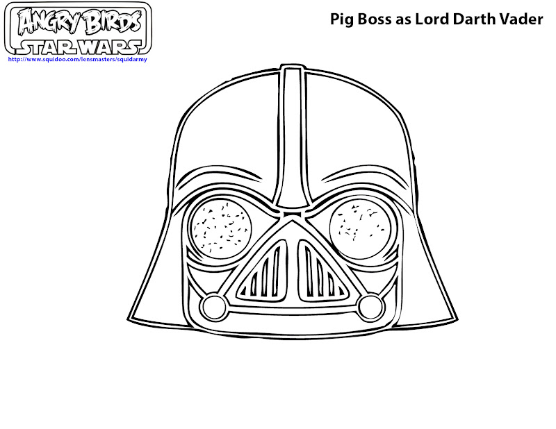 free printable angry birds Star wars coloring pages - Pig boss as  title=