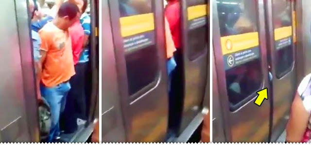 Hipernovas: Homem descobre da pior forma que metrô lotado não é o melhor lugar pra ficar de pau duro (Vídeo)