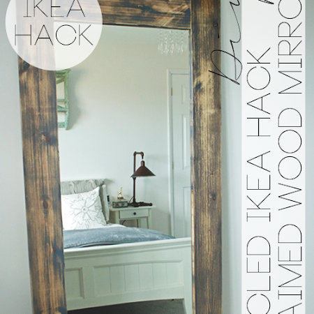 DIY - UPCYCLED \'IKEA HACK\' MIRROR FRAME [with plans!]   EDEA SMITH