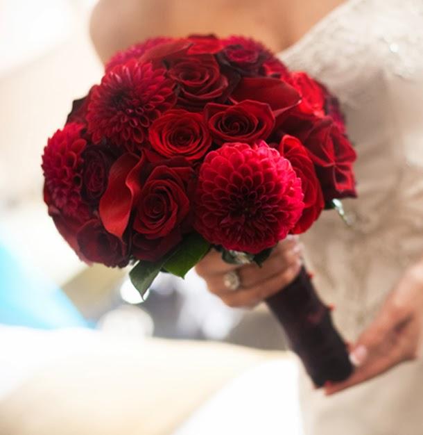Bouquets y Ramos de Bodas Color Rojo, parte 3