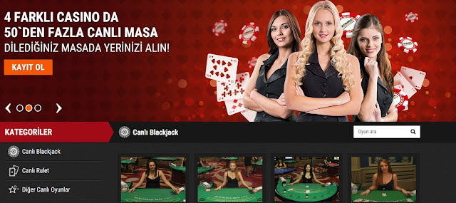 Canlı gazino - Live casino play now !