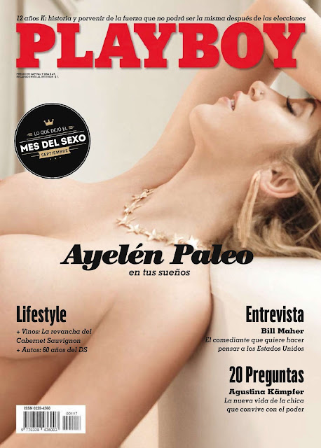 Portada Ayelén Paleo Revista Playboy Argentina Noviembre 2015