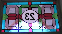 stained glass house number Greenwich SE10