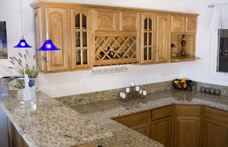 Kitchen and bath cabinets vanities home decor design ideas for Kitchen wall colors with honey oak cabinets