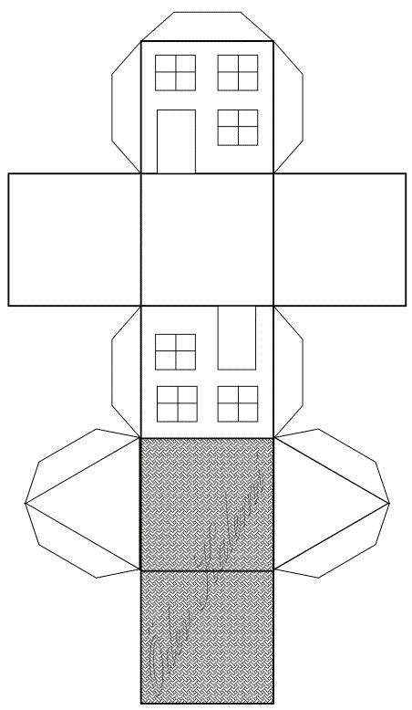 kagittan uc 3 boyutlu ev yapimi a231ılmış tasarım 199alışması