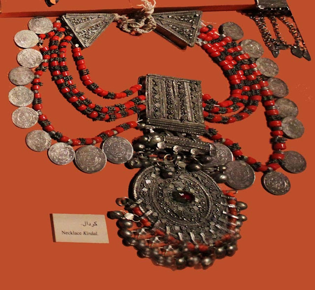 Ancient Arabic heavy silver necklace