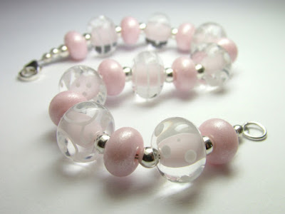 Made to order lampwork bead bracelet