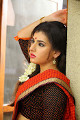 Archana veda in red saree photos-thumbnail-16