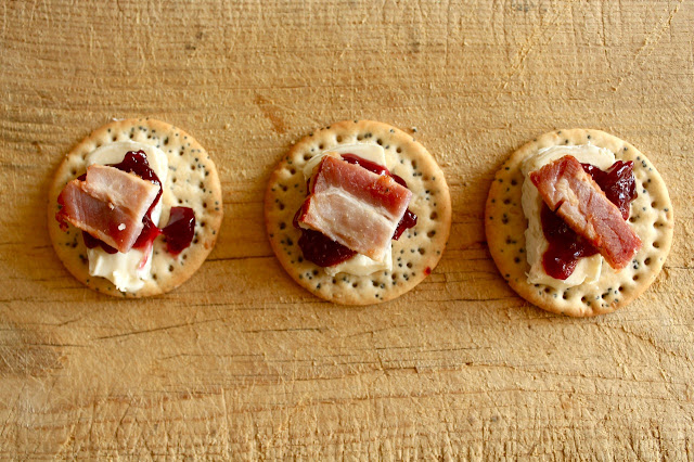 brie and bacon canape