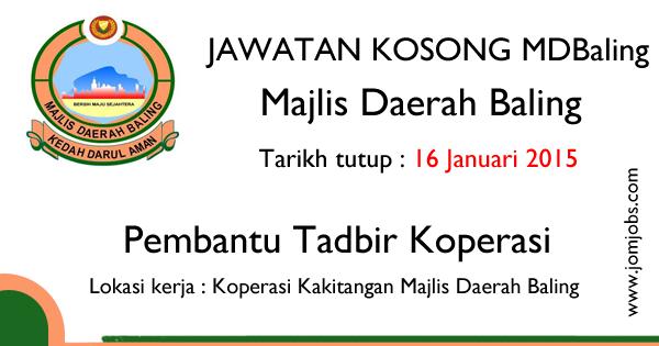Jawatan Kosong MDBaling Kedah 2015