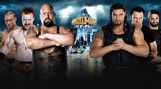 the shield luchan mano a mano vs el gran e imponente Big Shoe en la mejor lucha libre y el mejor espectáculo del mundo