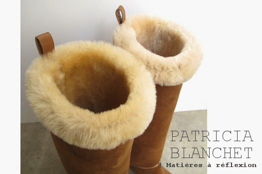 Boots fourrées camel Patricia Blanchet