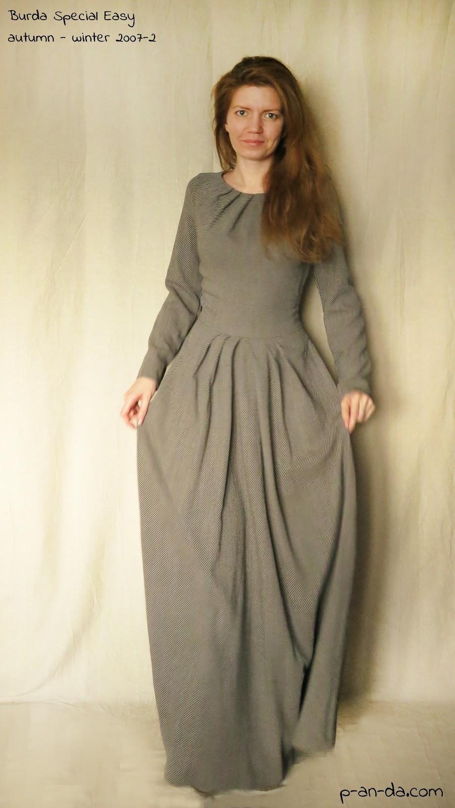 Длинные платья выкройки бурда