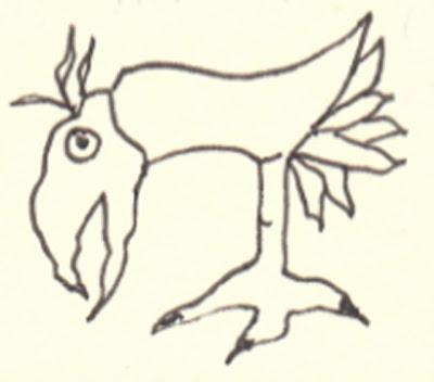 napkin doodle of a bird