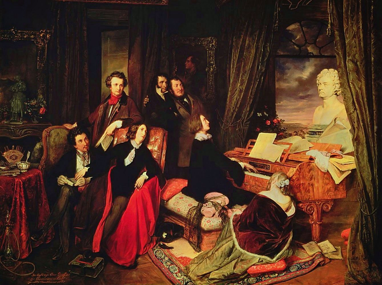 Liszt al piano. 1840