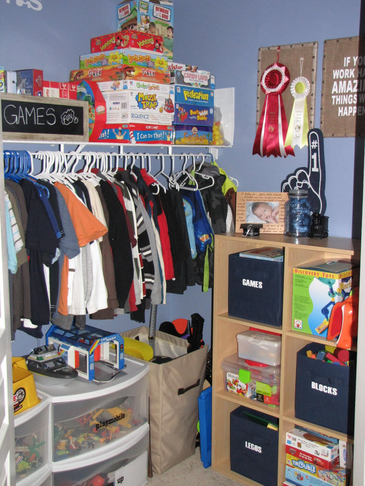 Organize everything kids closets clean and scentsible for Kids room closet ideas