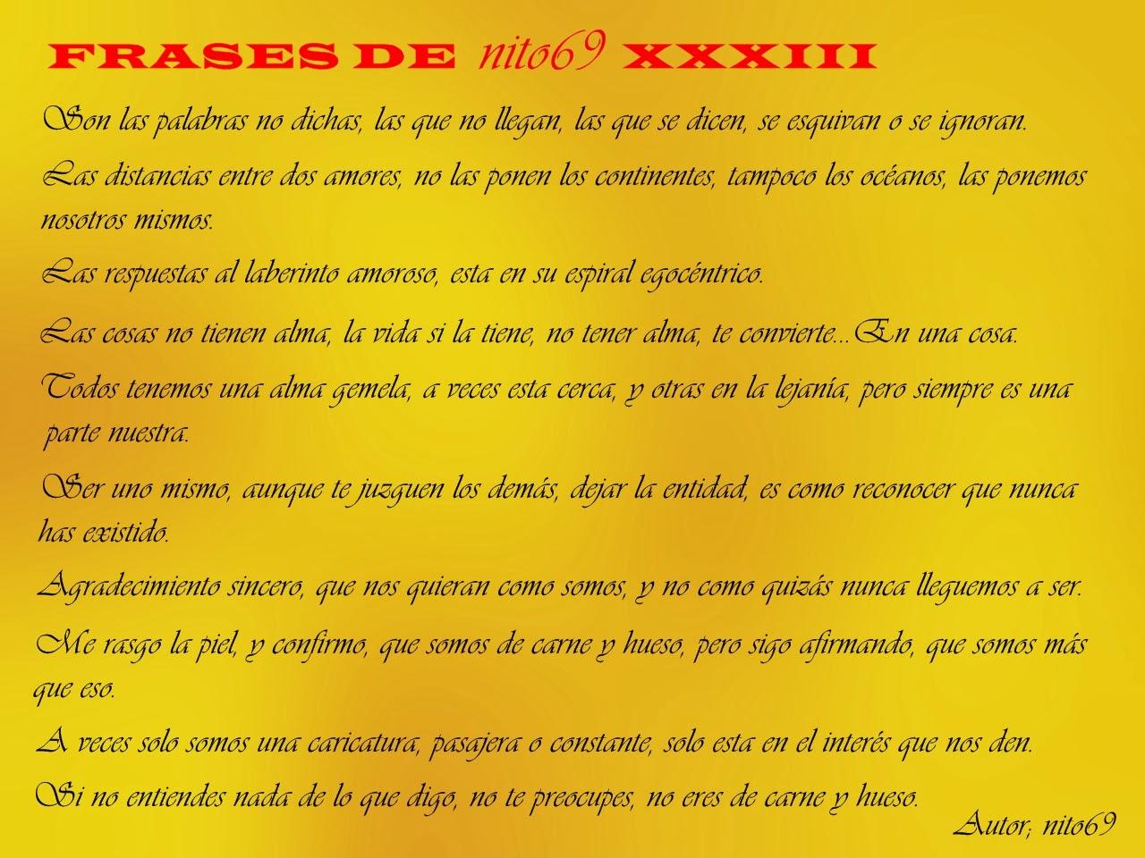 FRASES DE nito69 XXXIII