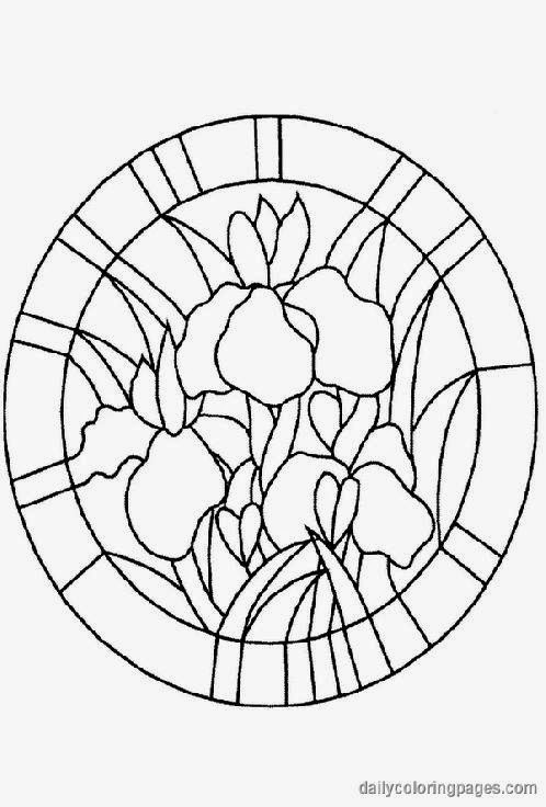 Dover Stained Glass Coloring Pages