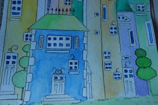 акварельные картинки, красивые рисунки, картинки в кухню, красивые кружки, чашечки, кружечки, нарисованые картинки, рисунки акварелью, смешные малыши, рисованые мишки, милые открытки, открытки на заказ, игрушки акварельлью, картинки в детскую, серия открыток, дома, домики, сказочный город