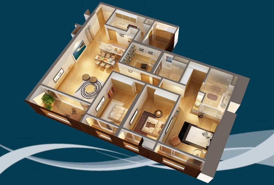 Thiết kế căn hộ CH3 - 186m2 Chung cư Dolphin Plaza