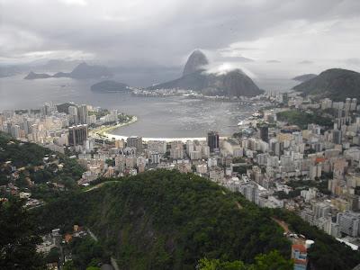 An aerial shot of Rio de Janeiro
