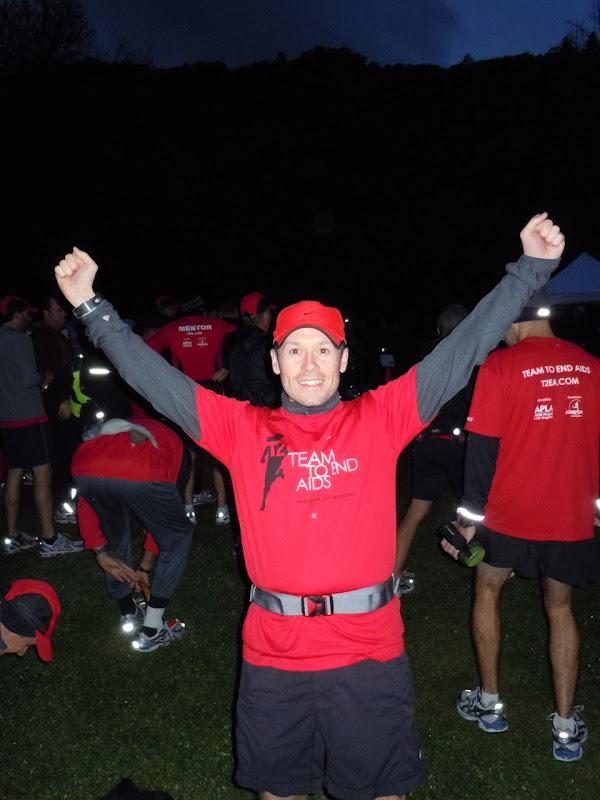 Jason at 6am marathon training