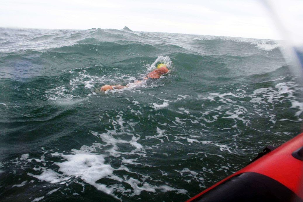 Anne Marie swimming off Arklow
