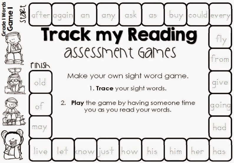 First grade printable reading games