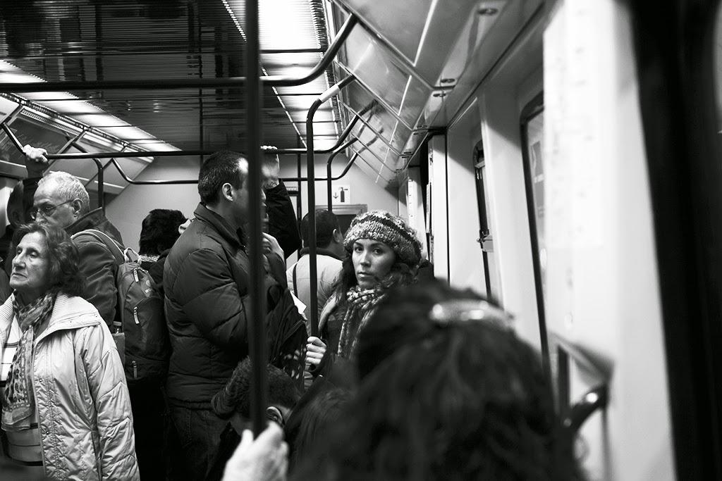 fotografía callejera metro Madrid