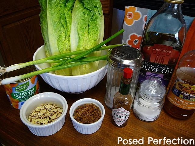 sweet mandarin salad ingredients