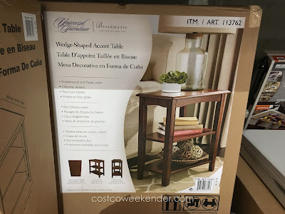 Universal Furniture Broadmoore Wedge-Shaped Accent Table: great for any living or family room